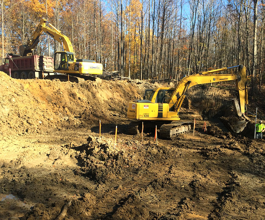 Site Work Excavating and Grading